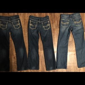 Ariat boys jeans size 12 lot of 3